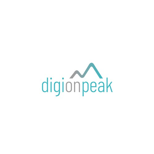 digionpeak logo design