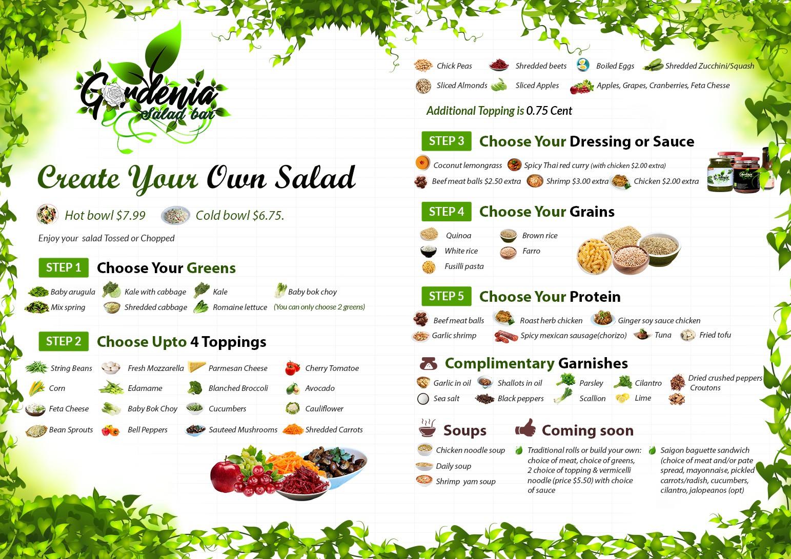 Gardina menu