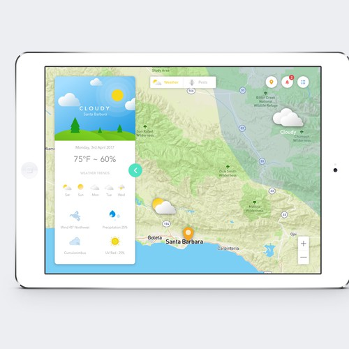 Weather Forecast with Map