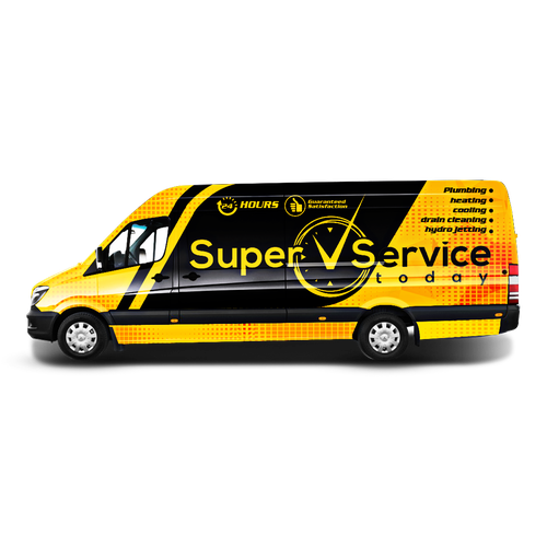 Super Service Today Van wrap design