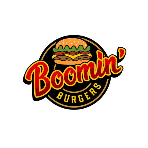 logo for new burger place, Boomin Burgers