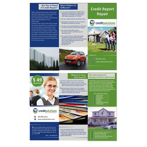 brochure design for Credit Solutions