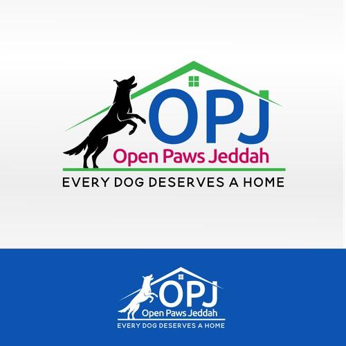 Logo for a dog shelter