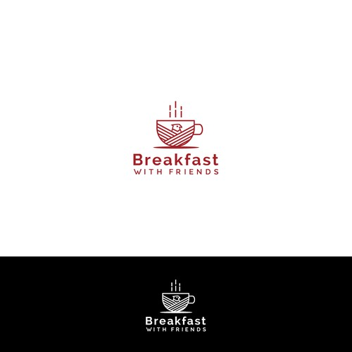 Logo design for breakfast with friends