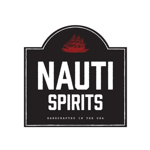 Nautical Logo for hand-crafted moonshine