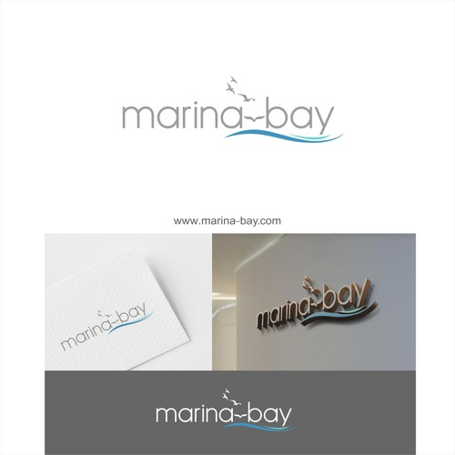Minimalistic but Luxurious logo for Hotel Marina-Bay
