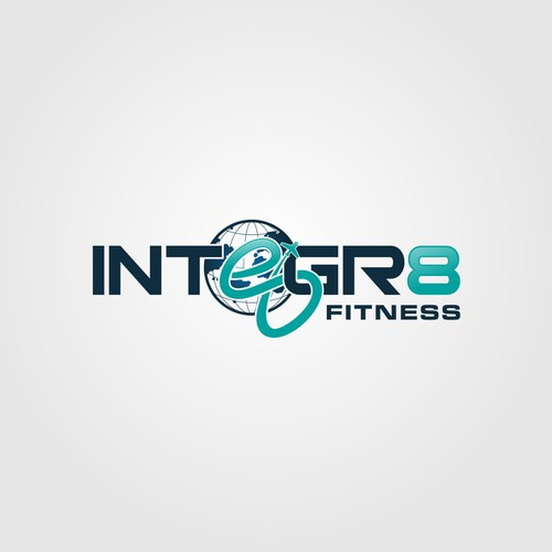 STRONG AND PROFESSIONAL LOGO FOR GLOBAL TECH FITNESS ORGANIZATION.