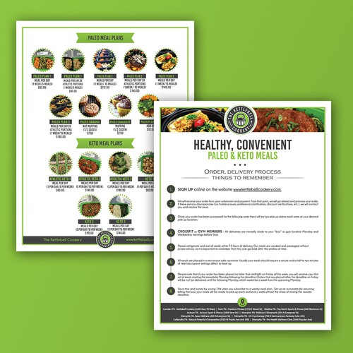 Flyer design for The Kettlebell Cookery