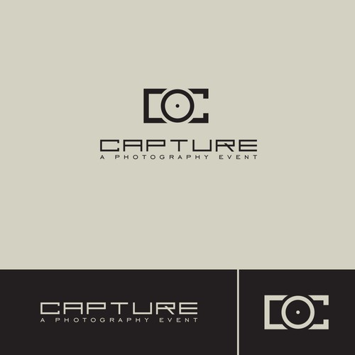 Minimalist and sophisticated logo for a photography event