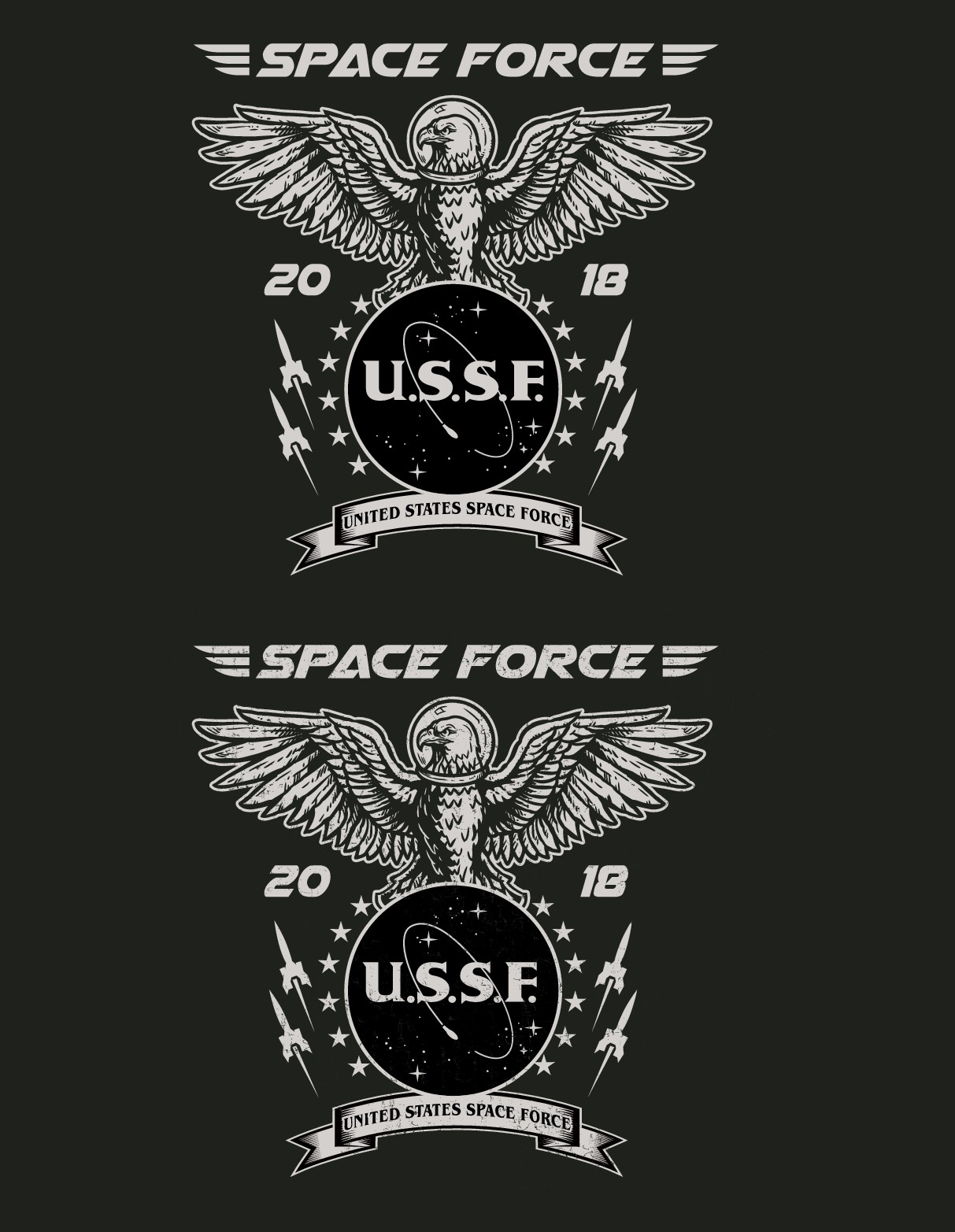"""New Branch of the Military """"Space Force"""" T-shirt"""