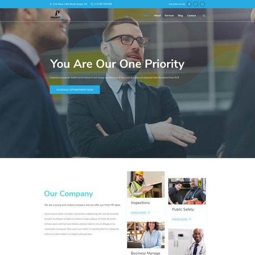 Design a simple and appealing consulting website