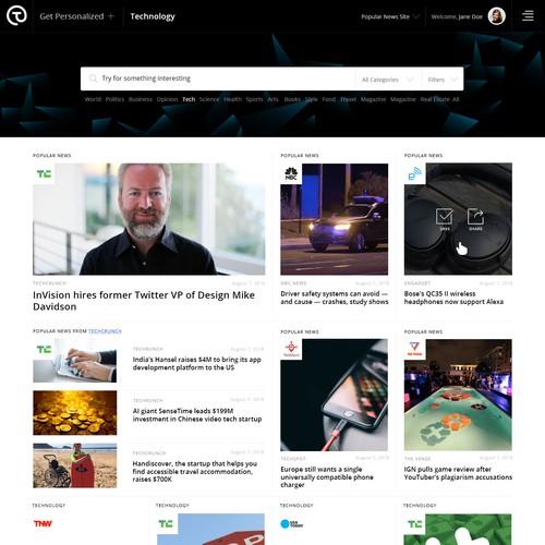 News Agregator Design Concept for Tatchup