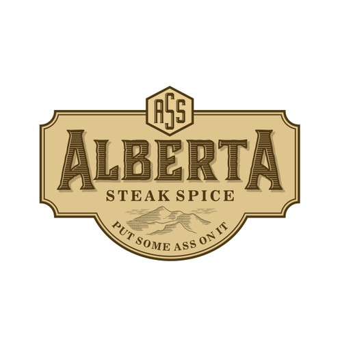 Rustic logo for Steak spice