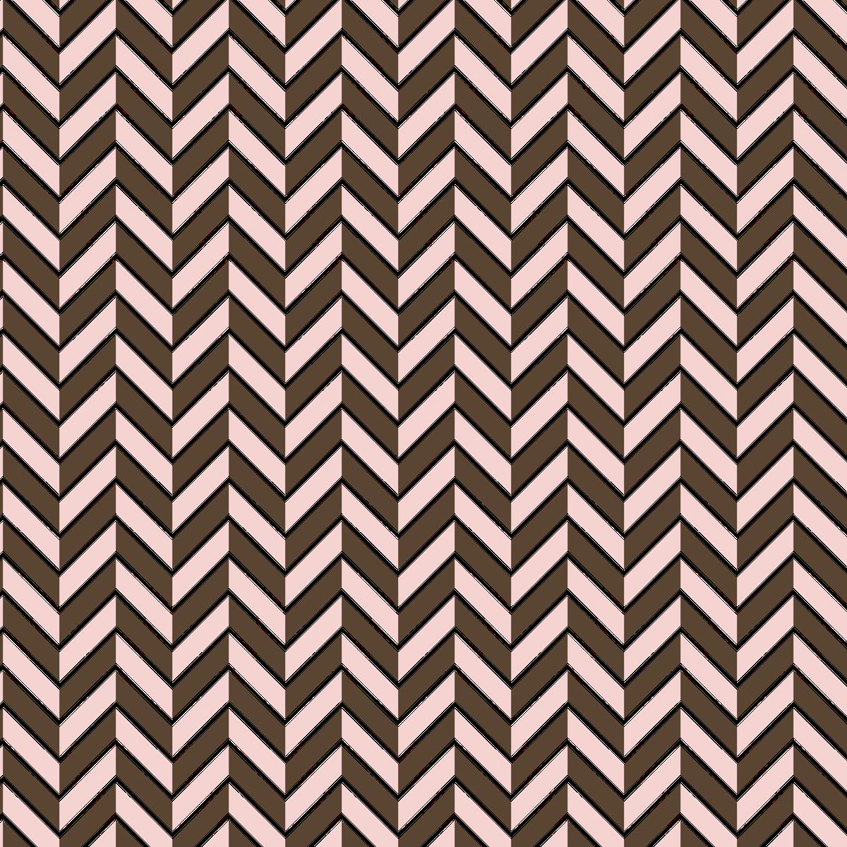 Pink-Brown Herringbone & Mini Dots