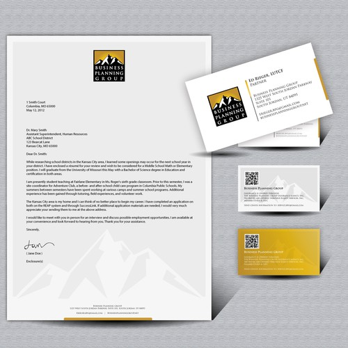 Stationery and Business Card for Business Planning Group