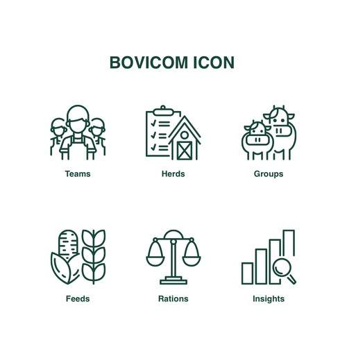 Icon design for Bovicom