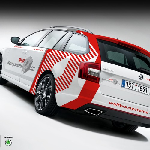 WOLFBAUSYSTEME CAR WRAP DESIGN