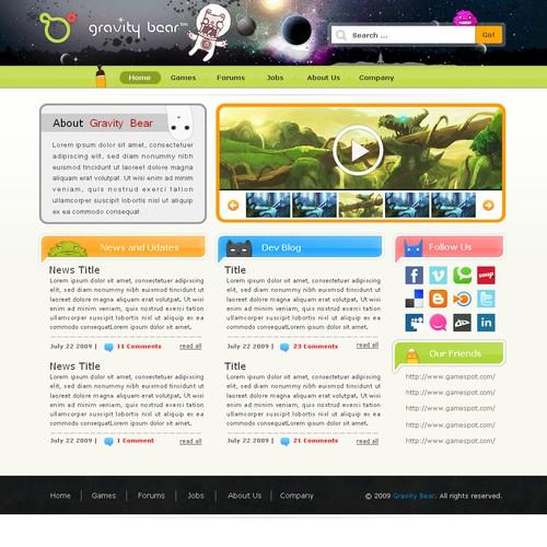 New Video Game company needs Website design.  Creativity Needed!
