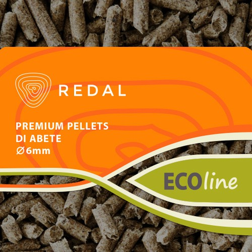Eco Wood Pellets package, bag redesign