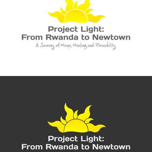 Create a movie logo that portrays hope, healing and possibility