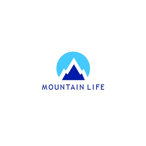 Simple Mountain Icon for non-profit organization located in resort area of Colorado Rockies