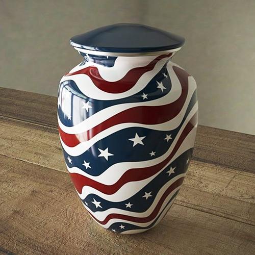 American Flag Funeral Urn
