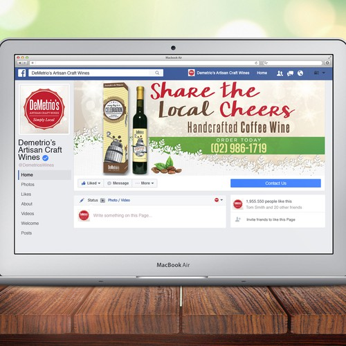 Demetrio's Artisan Craft Wines Social Media Graphics