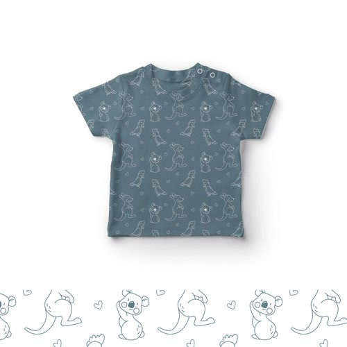 Seamless pattern design for baby clothes