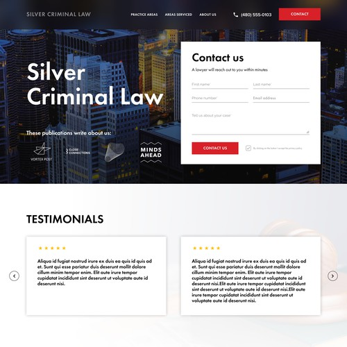 Landing page for Silver Criminal Law
