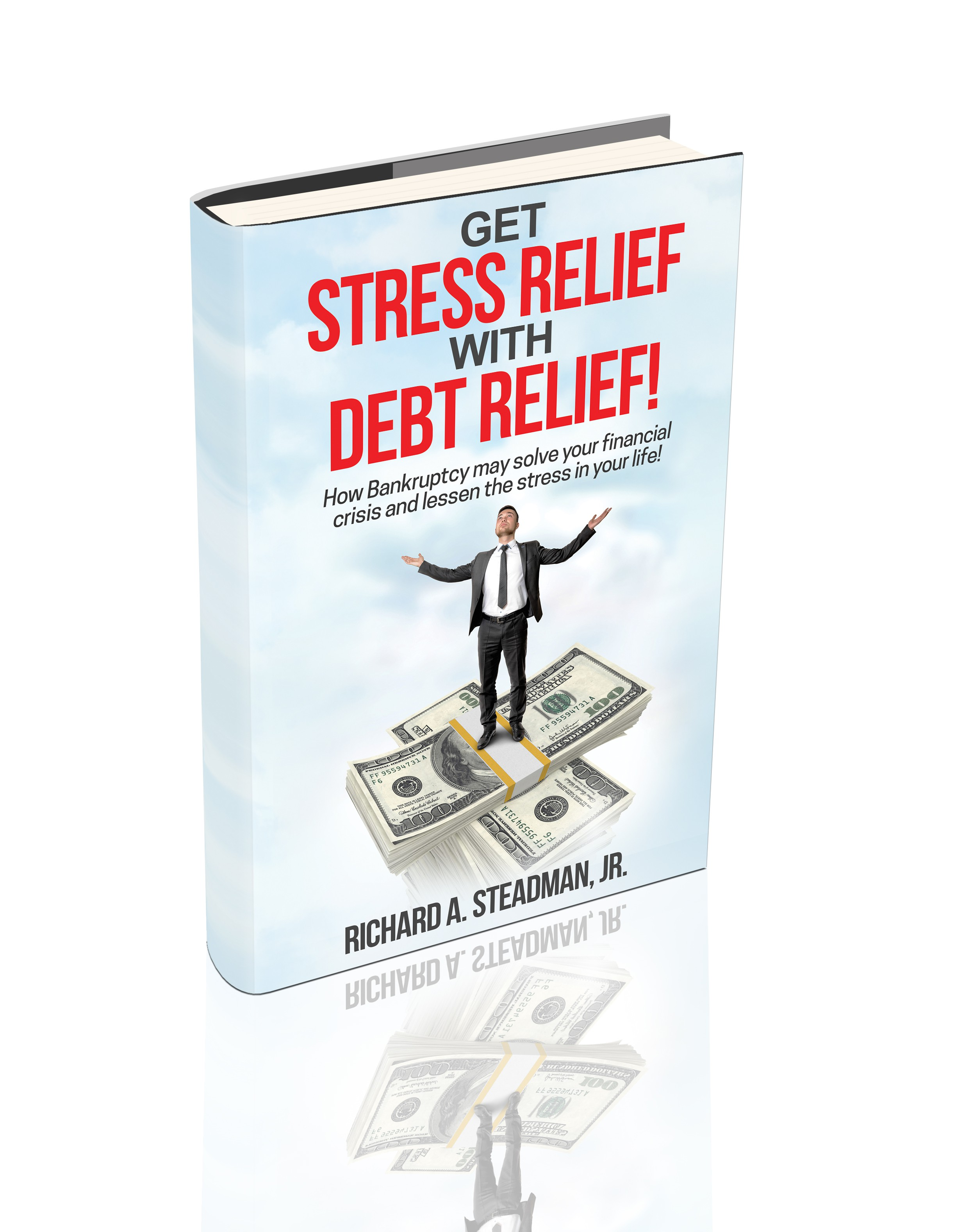 Design Book Cover for Bankruptcy Attorney providing Stress Relief