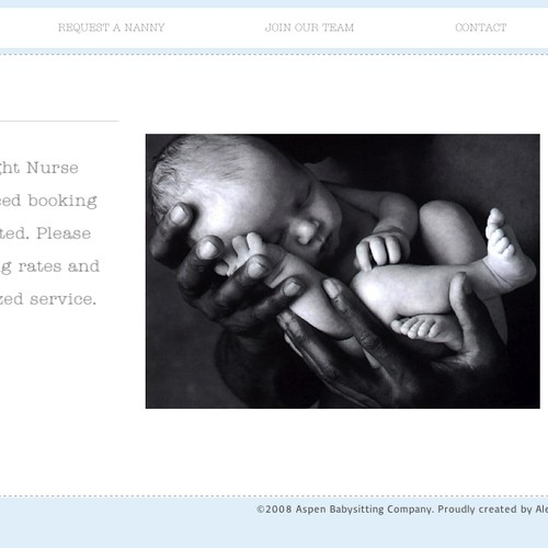 Create a new and modern website for Aspen Babysitting Company