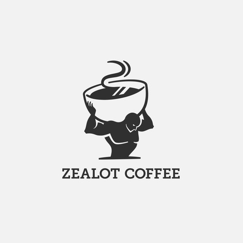 Logo concept for a strong coffee