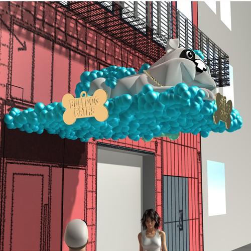 Landmark 3D Bulldog Design Needed for Bulldog Baths San Francisco