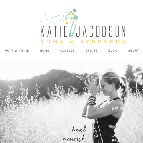 Katie's Beautiful Logo for yoga and ayurveda