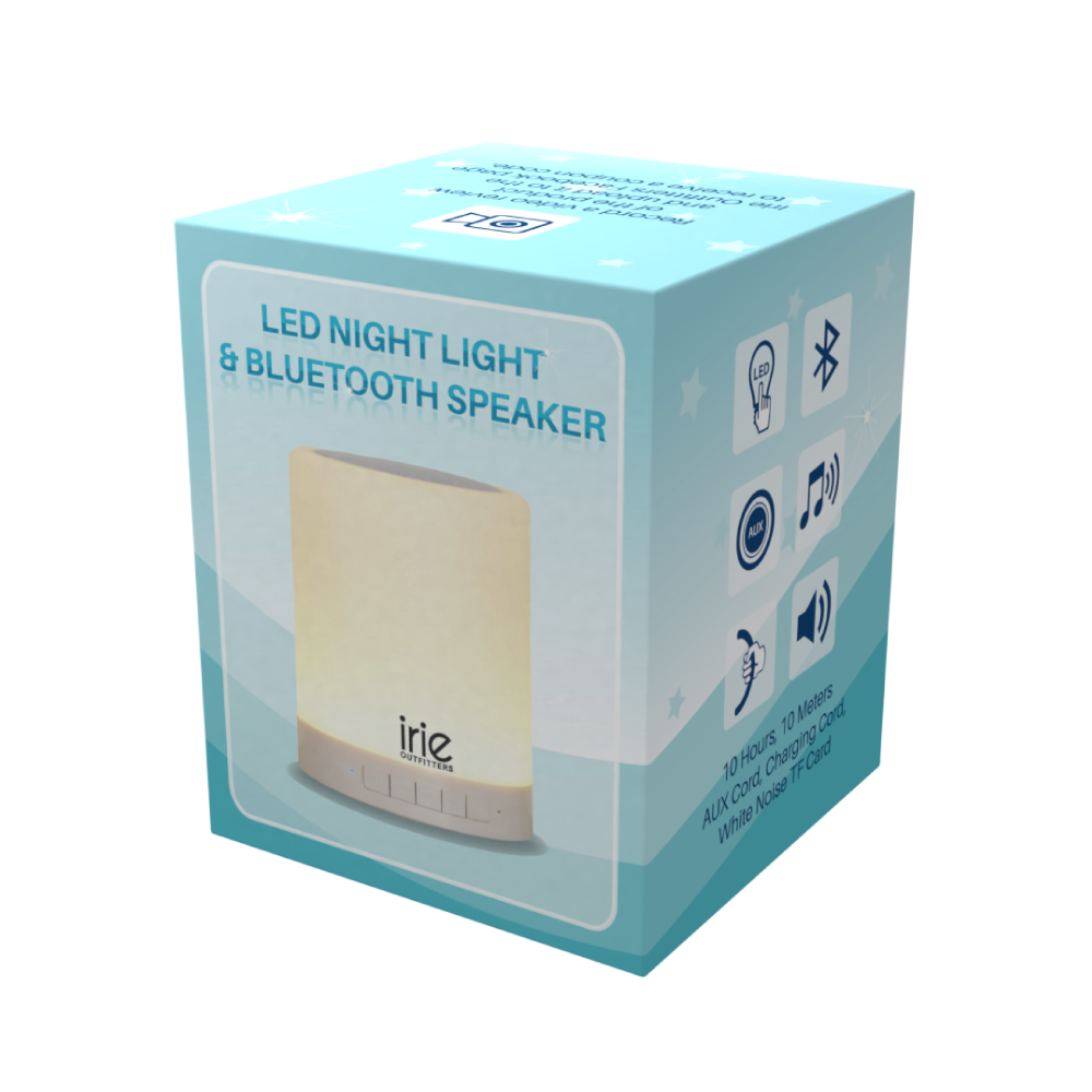 Package Design for LED Night Light Blue Tooth Speaker