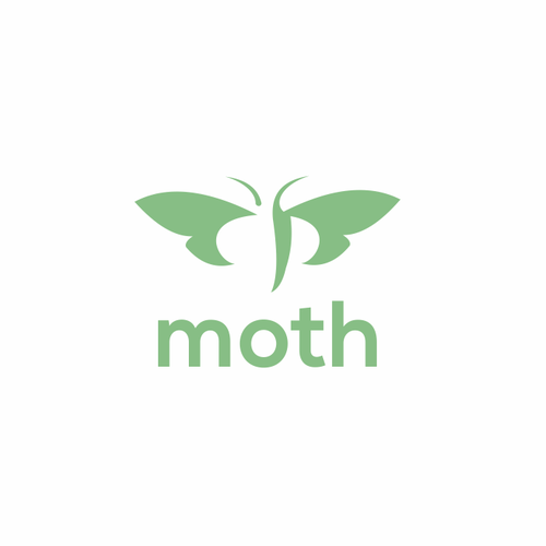 Make a minimalist, moth logo for a tech startup