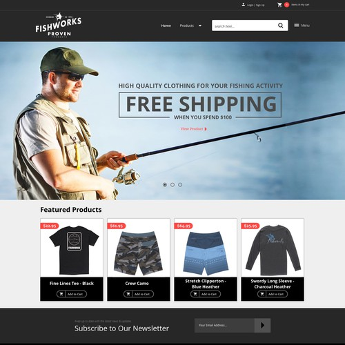 Webdesigns for Fishworks