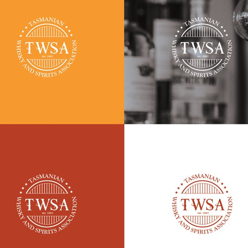 Classic style whisky and spirits association logo