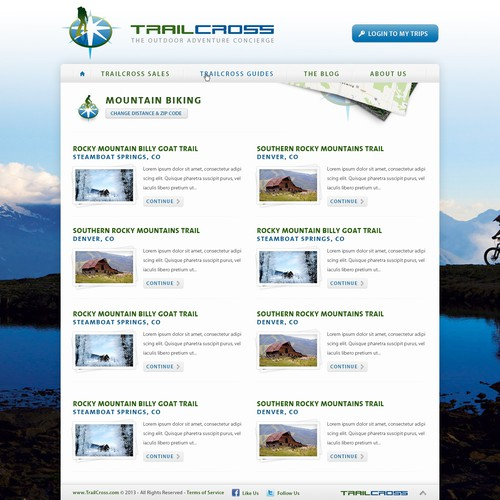 website or app design for TrailCross.com