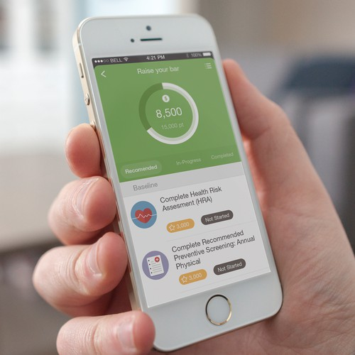 Wellness Enterprise App Design Concept