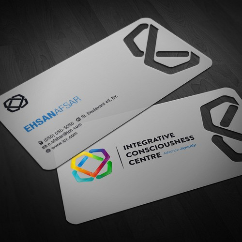 Logo and Business Card for Integrative Consciousness Centre