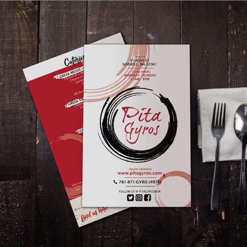 Menu Concept for Pita Gyros Greek Restaurant