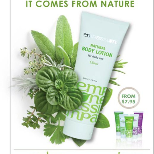 Poster for natural skin care brand that will be displayed in shops all over Australia!