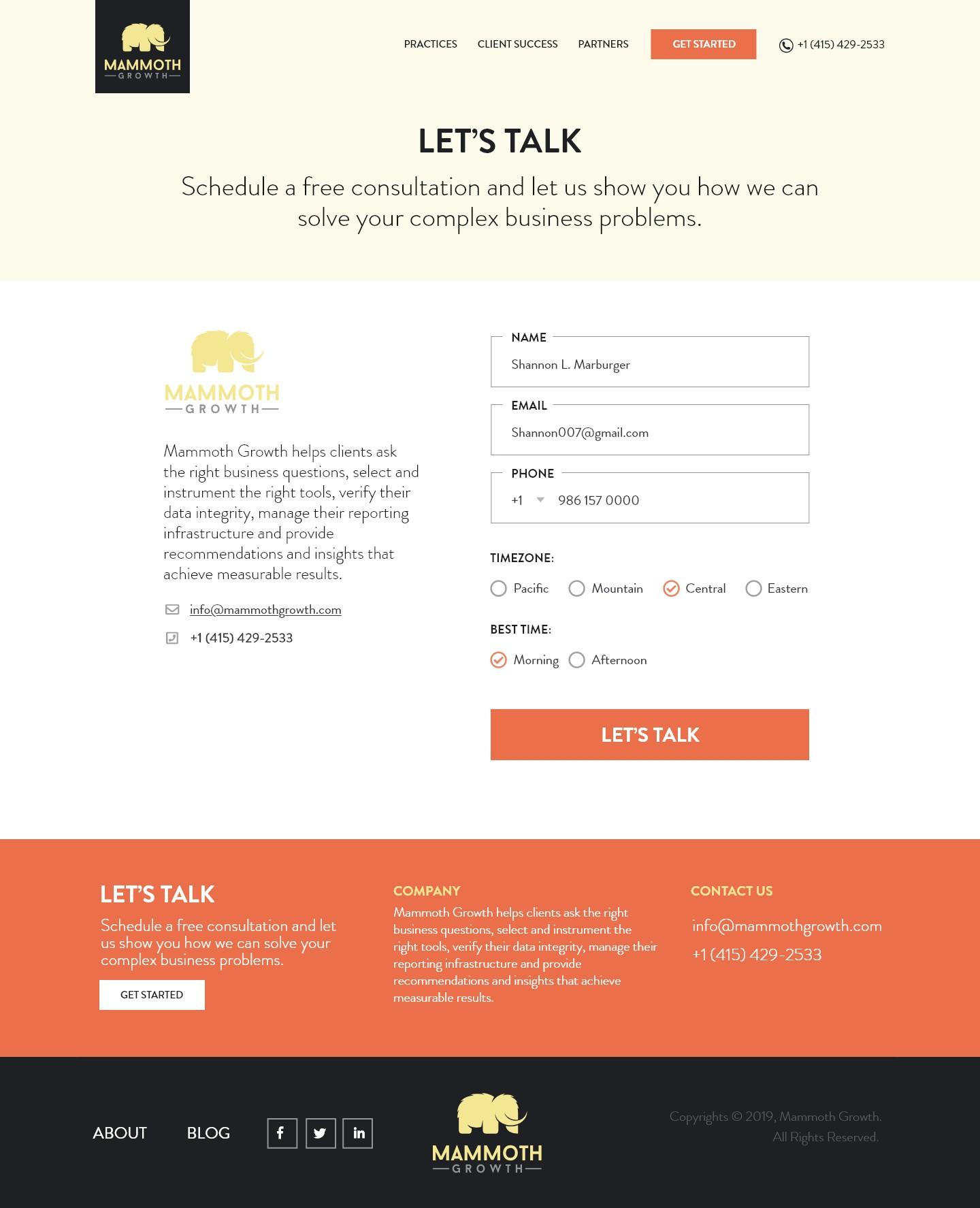 Design a WordPress Theme for Mammoth Growth