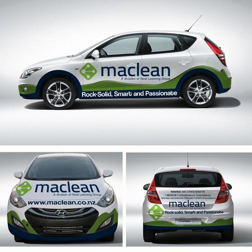 Create an eye catching graphics for Maclean's car fleet