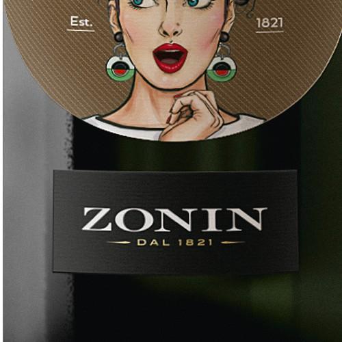 Zonin label design