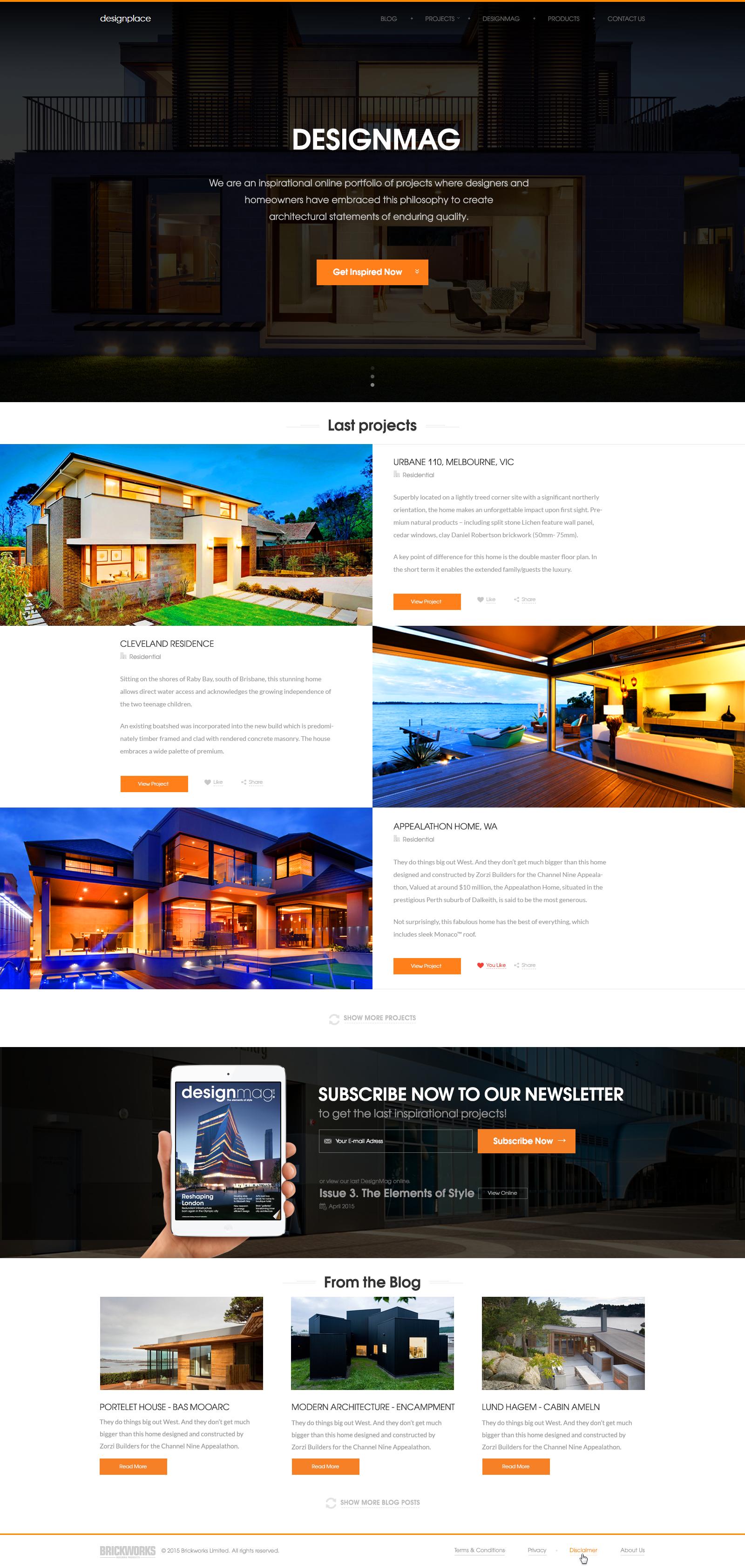 Create An Inspirational Website Design For DesignPlace.com.au
