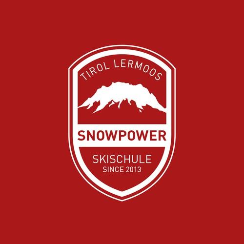 Einfarbiges Logo für Skischule