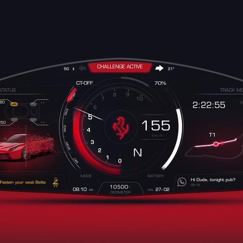 Personal Ferrari UI Concept