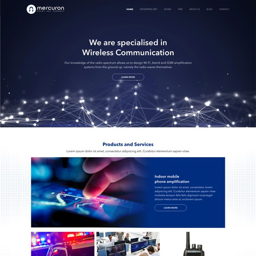 Design for Landing Page Website